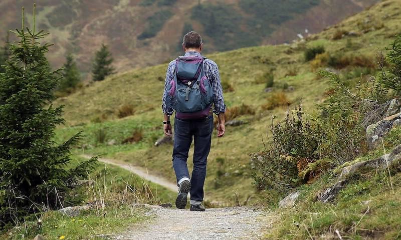 ゆっくり山を歩くのもいいものです。